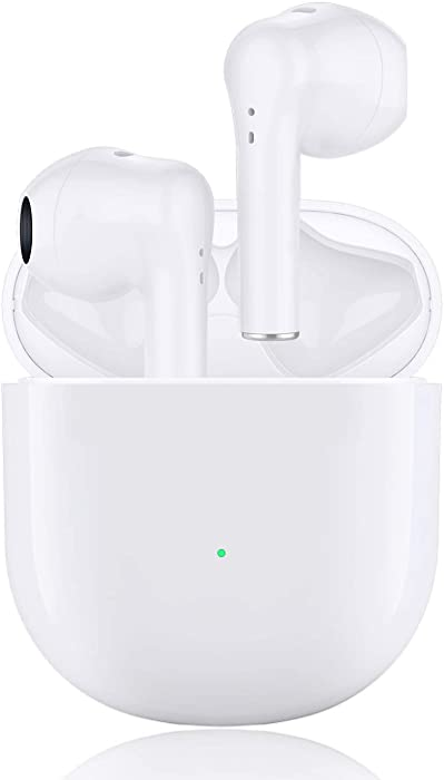 Wireless Earbuds Bluetooth 5.0 Headphones in-Ear Noise Cancelling Headphones HiFi Stereo IPX5 Waterproof Headphones Built-in Microphone with Quick Charge Box for iPhone Android Apple Airpods