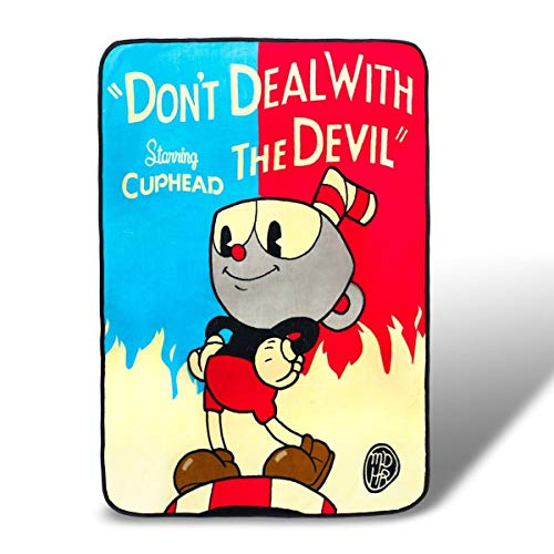 Devils Fleece - Cuphead Don't Deal with the Devil Fleece Throw Blanket 45 x 60 Inches