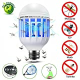 YATWIN Mosquito Killer Lamp, Bug Zapper Light Bulb, Electronic Insect & Fly Killer, 110V E26/E27 Bug Zapper Light Bulb Socket Base for Home Indoor Outdoor Garden Patio Backyard