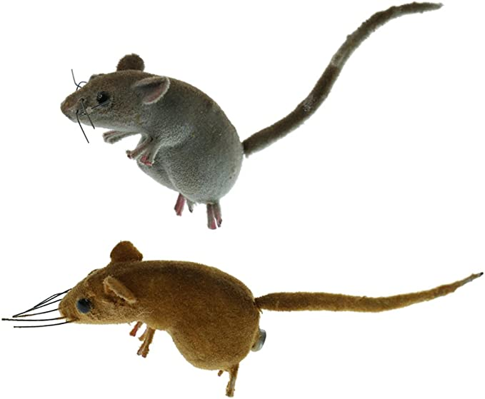 Spoof Toys Lawn Mouse Lifelike Animal Ornament Model Statues Lawn Sculpture