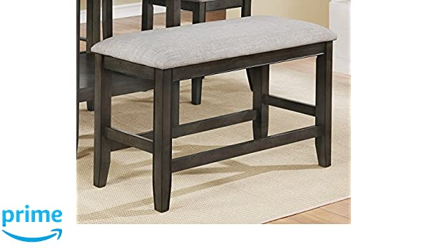 Amazon.com - American Furniture Classics Dining Bench, gray ...