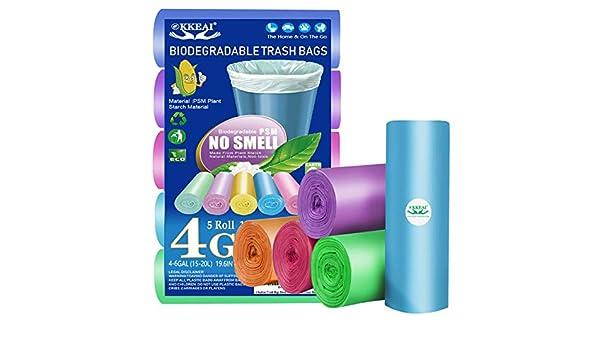 Bolsas de basura biodegradables de 4 galones, 150 unidades, bolsas ...