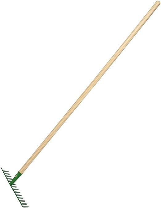 Herramientas de jardín macizos, 1 de 7, horca de acero inoxidable, pala de acero inoxidable, rastrillo de acero inoxidable. Mango de madera sólida: Amazon.es: Jardín