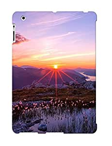 Flexible Tpu Back Case Cover For Ipad 2/3/4 - Nature Landscapes Sunset Sunrise Pond Plants Water Flowers Mountains Sky Clouds Scenic Color