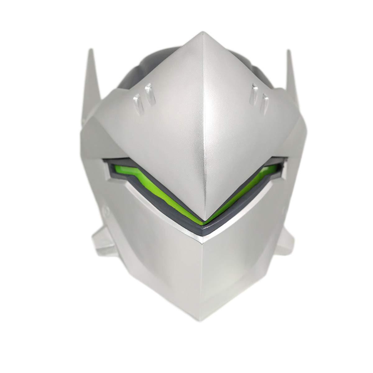 Overwatch Genji Mask Knight Genji Wearable Cosplay Helmet Game Anime Costume Accessory Prop Silver