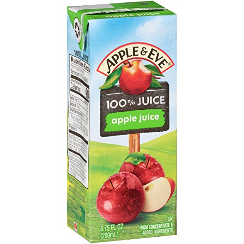 (Apple & Eve 100% Apple Juice, 6.75 Fluid-oz., 40 Count)