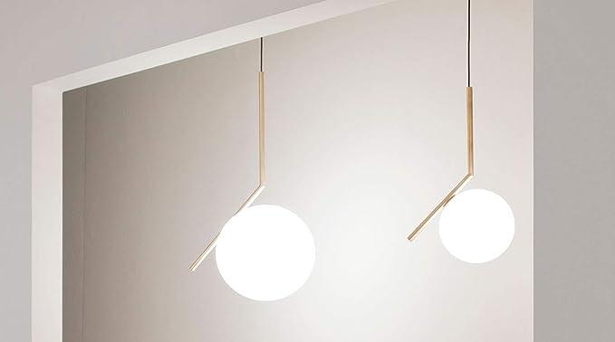 Plafoniere Flos : Flos ic s1 lampada e14 60 watts bianco ottone: amazon.it: casa e