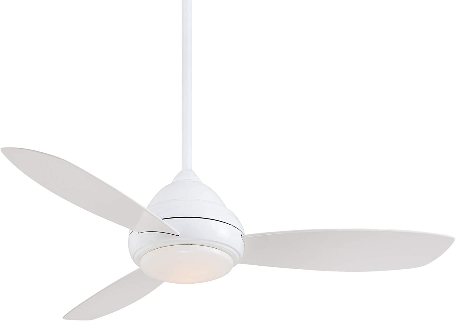 Minka-Aire F517L-WH Concept I 52 Inch Ceiling Fan with Integrated 14W LED Light in White Finish