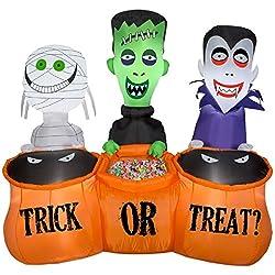 Gemmy Trick or Treaters Mummy, Frankenstein, and Vampire...
