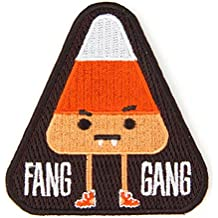 Embroidered Sew or Iron-on Backing Patches - Space Explorer Time Traveler Camp Galaxy Treehouse Road Trip Planet Bear Bike Camera 2nd (Fang Gang)