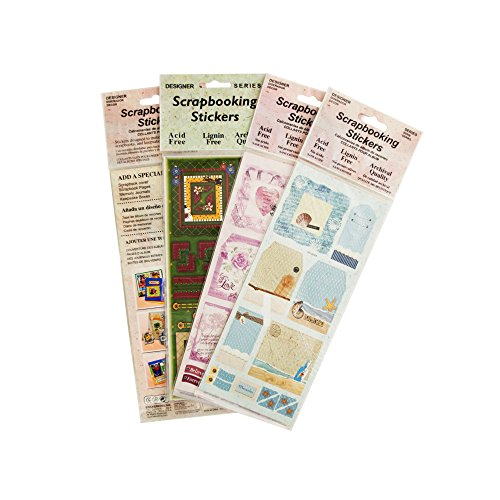 Kole Imports CH056 Scrapbooking Stickers Assortment, 1 Sheet per pack (1 Import Per)