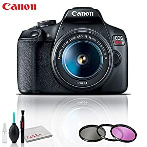Canon EOS Rebel T7 DSLR Camera with 18-55mm Lens, Cleaning Kit, Filter Kit, and 32GB Memory Kit