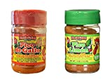 Pico De Gallo's Hot Chile and Salt & Pico Limon Seasoning Set , 4oz (Pack of 2)