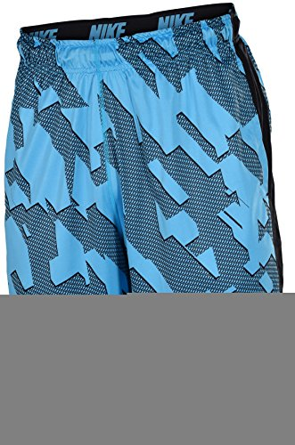 Nike Men's Dri-Fit Micro Chainmaille Fly Training Shorts-Blue/Black-Large