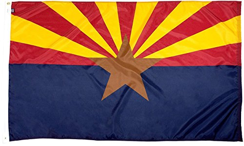- FlagSource Arizona Nylon State Flag, Made in The USA, 3x5'