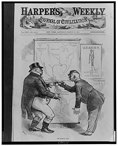 1880 Photo The European plan / Th. Nast. Maréchal MacMahon of France, using scissors labeled