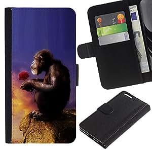 "Be-Star la tarjeta de Cr¨¦dito Slots PU Funda de cuero Monedero caso cubierta de piel Para Apple (5.5 inches!!!) iPhone 6+ Plus / 6S+ Plus ( Mono Mono Amor Naturaleza Symboli Arte"" )"