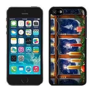 linJUN FENGDiy Design iphone 5/5s TPU Case Merry Christmas Black iphone 5/5s Case 53
