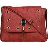 TYPIFY® Leatherette PU Sling bag for Women and Girls College Office Bag, Stylish latest Designer Spacious Cross Body Bag Purse with Sling Belt. Gift for Her
