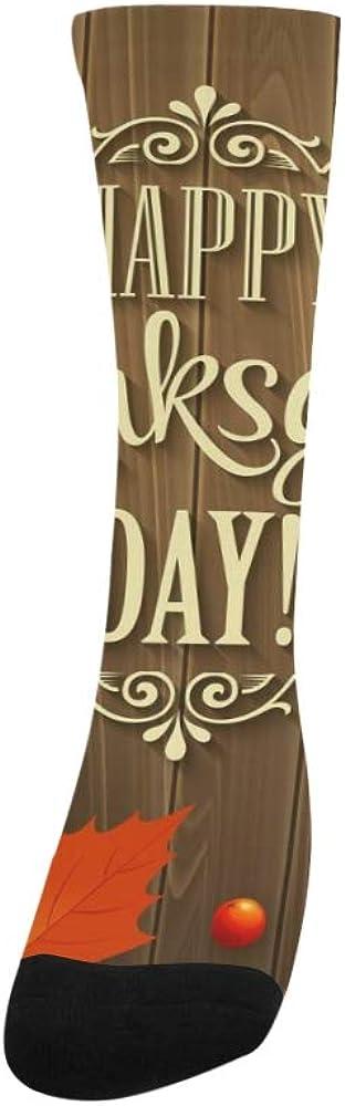 Golden Happy Thanksgiving Celebration Crazy Dress trouser Sock For Men Women