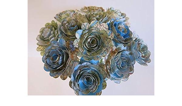 Amazon Com World Atlas Roses 1 5 Paper Flowers On Stems One Dz