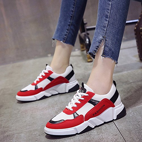 Cybling Women Athletic Sport Shoes Outdoor Platform Sneaker Da Allenamento Per Running Walking Rosso