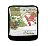 Sled Christmas Card Luggage Handle Wrap Finder