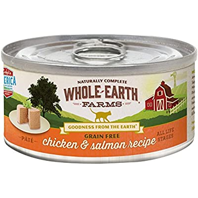 Merrick Whole Earth Farms Grain Free Wet Cat Food - Real Chicken & Salmon - 5 Oz - 24 Pk