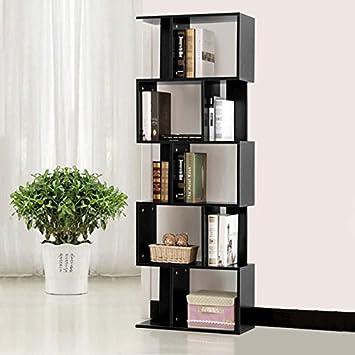 home office bookshelf. tall bookcase display storage wooden bookshelf home office 5 shelves magzinerack bookshelf f