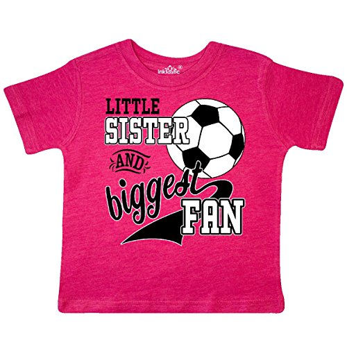Inktastic - Little Sister and Biggest Fan- Toddler T-Shirt 3T Retro Heather Pink (Tees Toddler Retro)