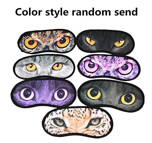 (Cute Animal Sleeping Eye Mask Blindfold Relax Sleep Travel Cover Eye-Shade ACOZ)