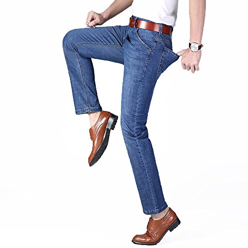 XYJD Men's Straight Barrel Jean for Business and Leisure in Summer by XYJD (Image #5)