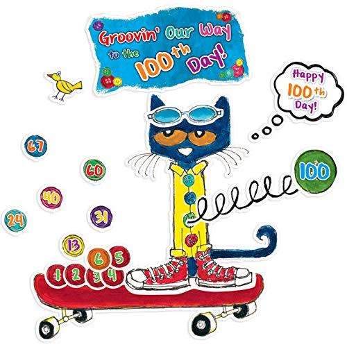 Edupress Pete The Cat 100 Groovy Days of School Bulletin Board (EP62384) -