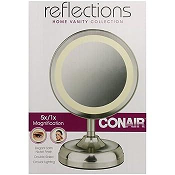 Amazon Com Conair Double Sided Lighted Mirror Satin