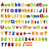 BeebeeRun 106 PCS Magnetic Letters & Numbers for Toddlers Early Learning Toy Gift for Kids Classroom