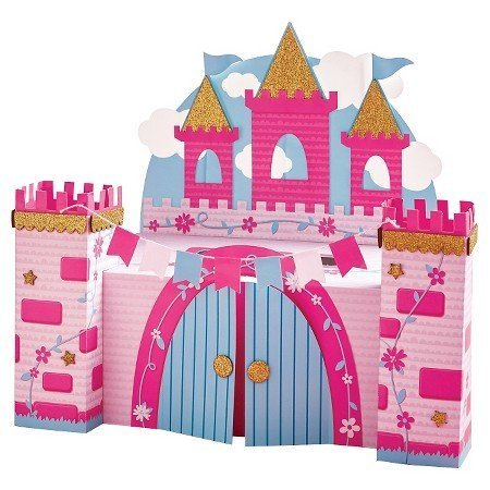 (Valentines Day Mailbox Decorating Kit Pink Castle)