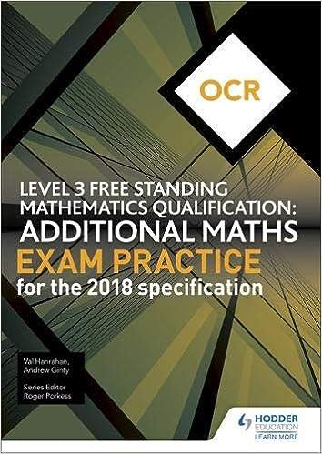 OCR Free Standing Mathematics Qualification: Additional