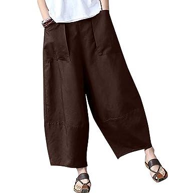 5171072e84125 Manadlian-Pantalon Pantalon de Jogging, Femme Taille Haute Linge de Maison  Casual Pants Femme