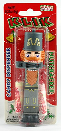 KLIK Holiday NUTCRACKER General (White) Candy Dispenser-New on Blister -
