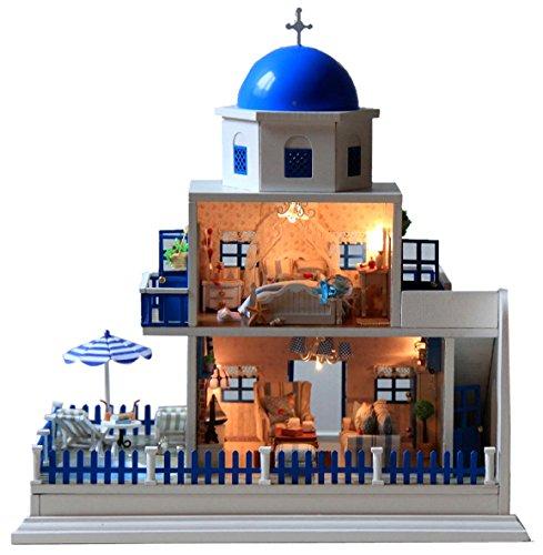 에게 해 산토리니 섬 모티브 미니어처 인형 집 만들기 키트