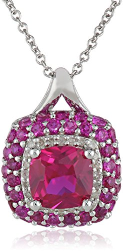 Sterling-Silver-Created-Ruby-and-Diamond-110cttw-I-J-Color-I3-Clarity-Pendant-Necklace-18