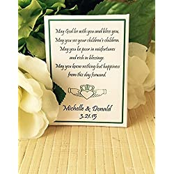 Personalized wedding seed packets with Claddagh (set of 50) - Celtic Wedding favors - Irish themed event favors