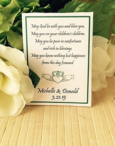Amazon.com: Personalized wedding seed packets with Claddagh (set of ...