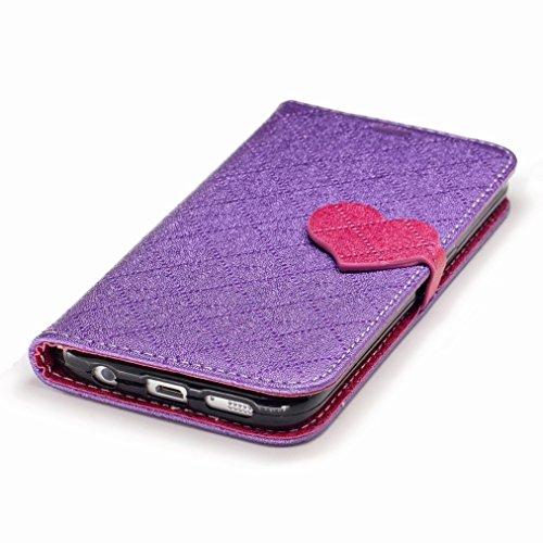 Yiizy Samsung Galaxy S7 / G930 / G930F / G930FD Custodia Cover, Amare Design Sottile Flip Portafoglio PU Pelle Cuoio Copertura Shell Case Slot Schede Cavalletto Stile Libro Bumper Protettivo Borsa (Vi