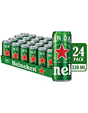 Heineken Lager Beer Can, 320ml (Pack of 24)