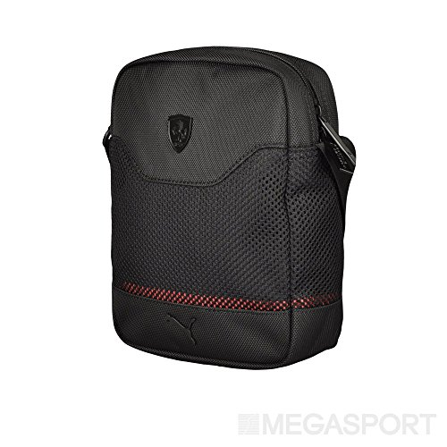 a89cd1007b0b Puma Ferrari LS Black Mesh Portable Bag - SupercarTribe.com