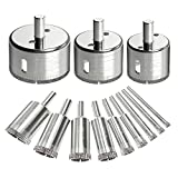 12PCS Diamond Drill Bits, Dr.meter Glass Tile Hole Saw Bits Set, Hollow Core Drill Bits, Extractor Remover Hole Saws for Glass, Ceramics, Porcelain, Ceramic Tile Review