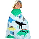 HAPEE Kids Hooded Poncho Towel 100% Cotton Perfect for Bath, Swim, Pool and Beach, Cute Cartoon snap for boys