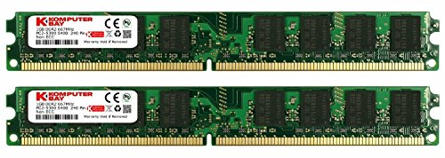 KOMPUTERBAY 2GB (2X 1GB) DDR2 667MHz PC2-5300 PC2-5400 (240 PIN) DIMM Desktop Memory with Samsung Semiconductors