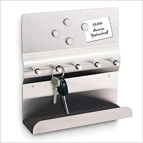 Tabla para colgar las llaves Con pizarra magnética Acero 4 imanes ...